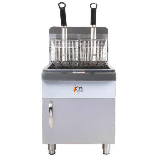 Cooking Performance Group CF30 Liquid Propane 30 lb. Countertop Fryer - 53,000 BTU