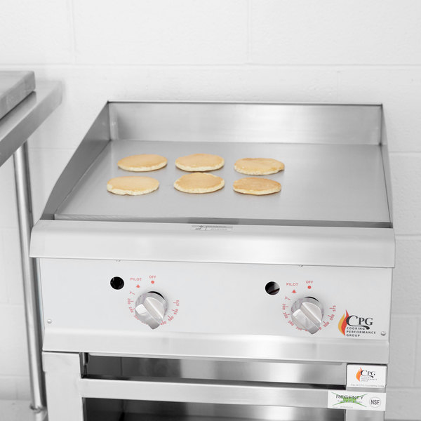 "Cooking Performance Group G24T 24"" Gas Countertop Griddle with Thermostatic Controls - 60,000 BTU"