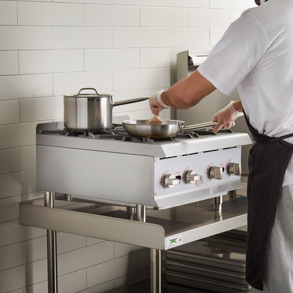 Cooking Performance Group HP424 4 Burner Gas Countertop Range / Hot Plate - 88,000 BTU Main Image 5