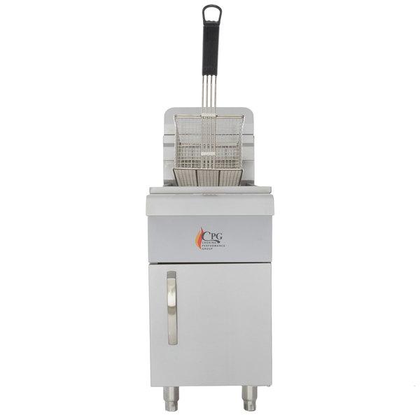 Cooking Performance Group CF15 15 lb. Gas Countertop Fryer - 26,500 BTU