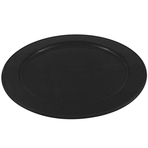 Bon Chef 2048 16 inch Sandstone Black Speckled Cast Aluminum Round Platter
