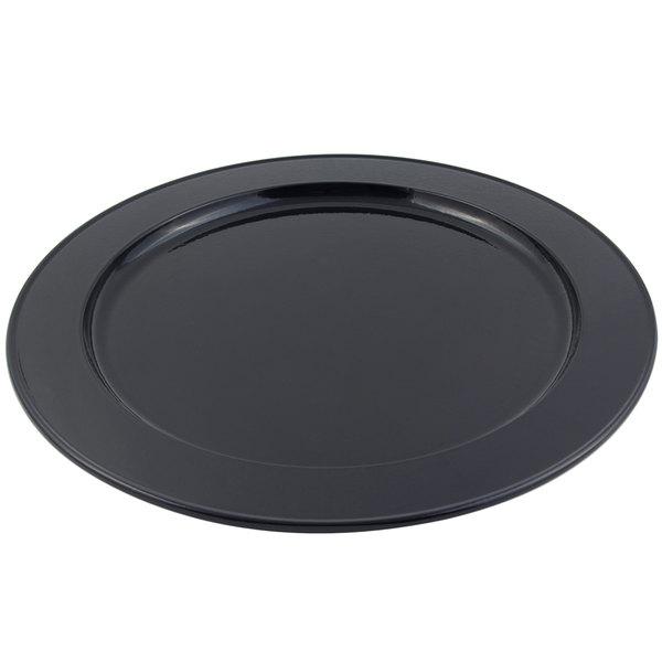 Bon Chef 2048 16 inch Sandstone Black Cast Aluminum Round Platter