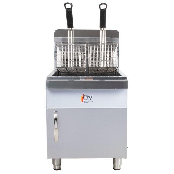 Cooking Performance Group CF30 30 lb. Gas Countertop Fryer - 53,000 BTU