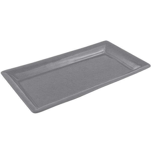 Bon Chef 5056 21 inch x 13 inch Sandstone Smoke Gray Cast Aluminum Full Size Food / Display Pan