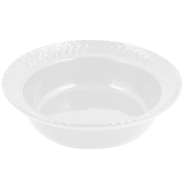 Bon Chef 2307 2.5 Qt. White Sandstone Finish Cast Aluminum Trellis Bowl