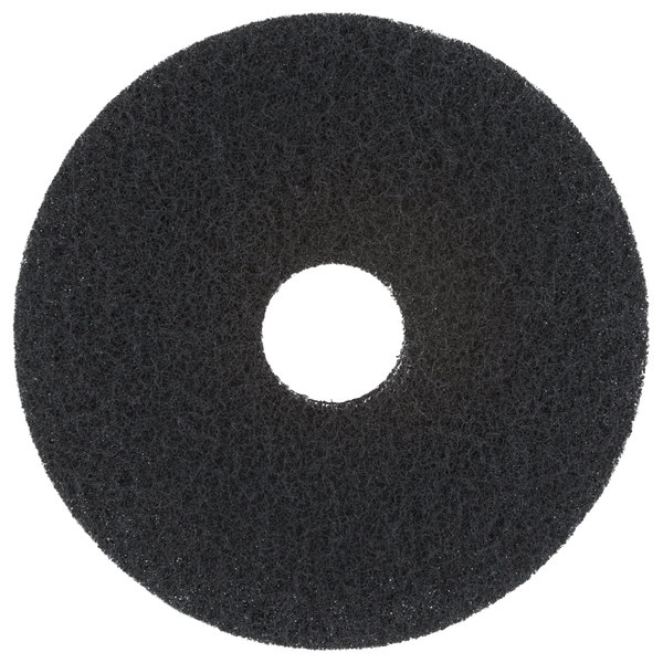 """Scrubble by ACS 72-15 Type 72 15"""" Black Stripping Floor Pad - 5/Case"""