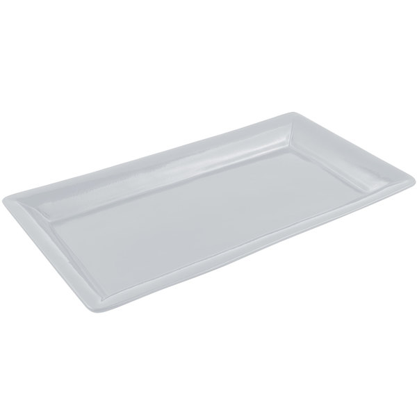 Bon Chef 5056 21 inch x 13 inch Pewter-Glo Cast Aluminum Full Size Food / Display Pan
