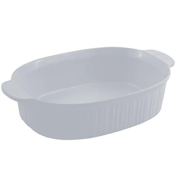 Bon Chef 5055 4 Qt. Pewter-Glo Cast Aluminum Oval Casserole Dish