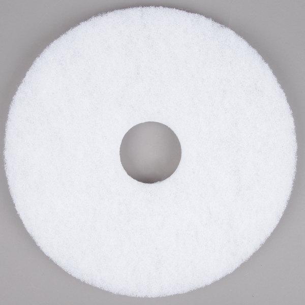 "Scrubble by ACS 41-15 Type 41 15"" White Polishing Floor Pad - 5/Case Main Image 1"