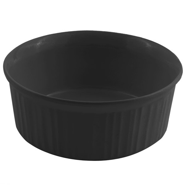 Bon Chef 5053 1.5 Qt. Sandstone Black Cast Aluminum Casserole Dish