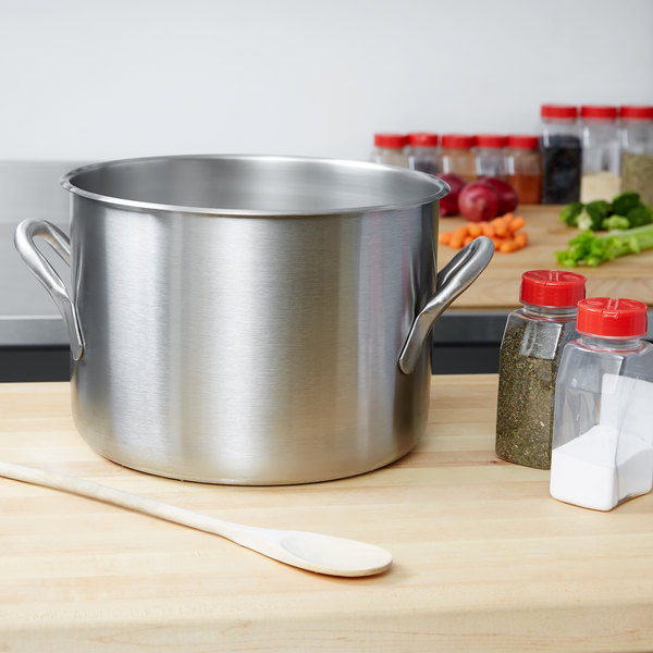 Vollrath 78600 Classic 16 Qt. Stainless Steel Stock Pot Main Image 2