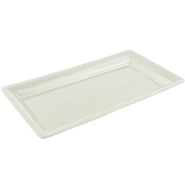 Bon Chef 5056 21 inch x 13 inch Sandstone Ivory Cast Aluminum Full Size Food / Display Pan