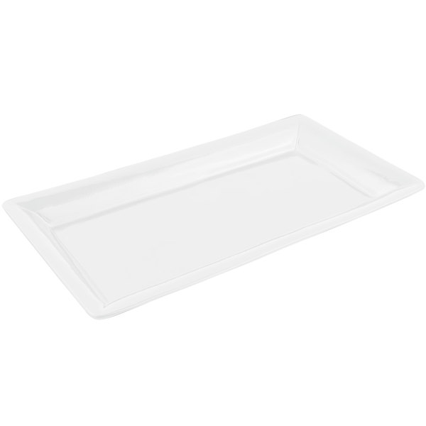 Bon Chef 5056 21 inch x 13 inch Sandstone White Cast Aluminum Full Size Food / Display Pan