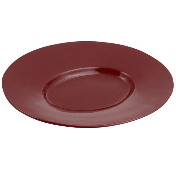 "Bon Chef 2090 19"" x 16"" Sandstone Terra Cotta Cast Aluminum Wide Rim Platter"