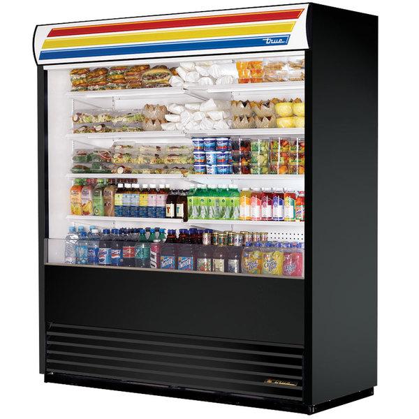 True TAC-72-LD Black Vertical Air Curtain Refrigerator