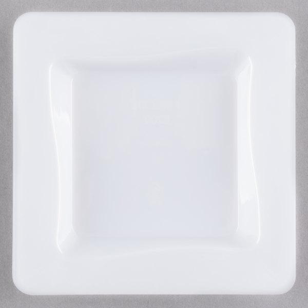 Fineline Tiny Temptations B6200-WH 3 inch x 3 inch White Plastic Tiny Tray - 200/Case