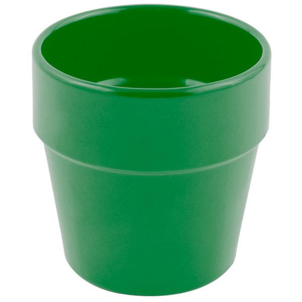 Bon Chef 9013 2 Qt. Sandstone Calypso Green Cast Aluminum Salad Dressing Pot