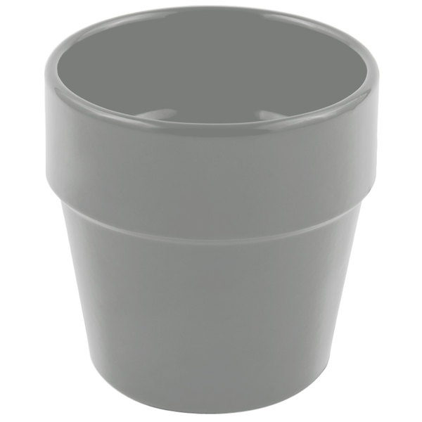 Bon Chef 9013 2 Qt. Sandstone Platinum Gray Cast Aluminum Salad Dressing Pot