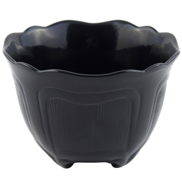 Bon Chef 9060 1.5 Qt. Sandstone Black Cast Aluminum Garnish Bowl
