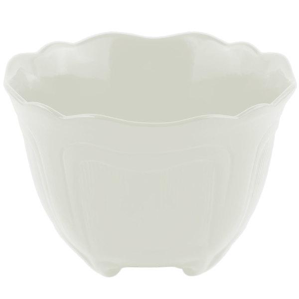 Bon Chef 9060 1.5 Qt. Sandstone Ivory Cast Aluminum Garnish Bowl