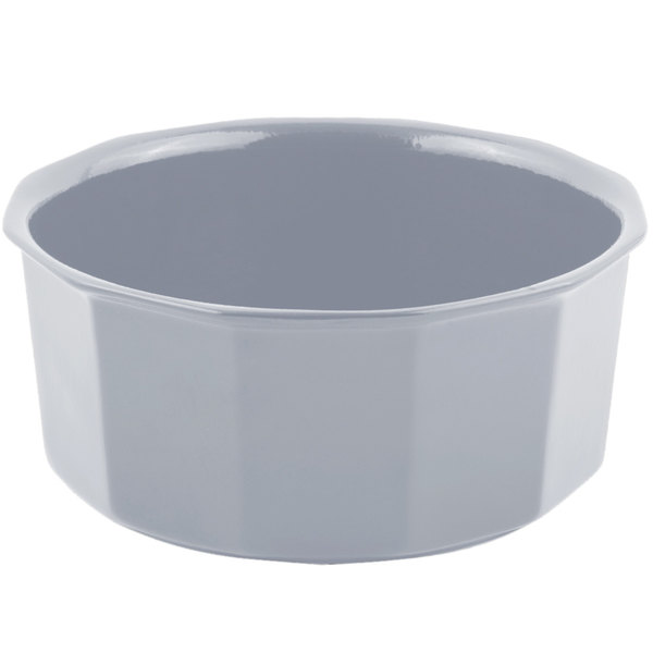 Bon Chef 9095 4.5 Qt. Pewter-Glo Cast Aluminum Flat Bottom Bowl