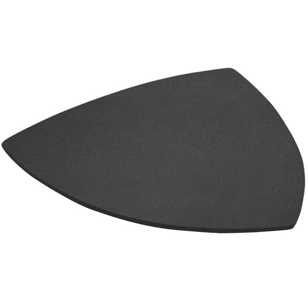 "Bon Chef 9162 24"" Black Speckled Sandstone Finish Cast Aluminum Triangle Serving Plate Main Image 1"