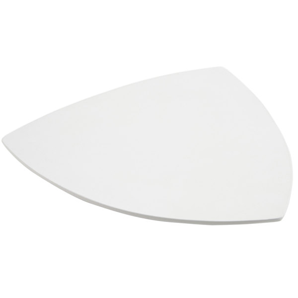 "Bon Chef 9162 24"" White Sandstone Finish Cast Aluminum Triangle Serving Plate Main Image 1"