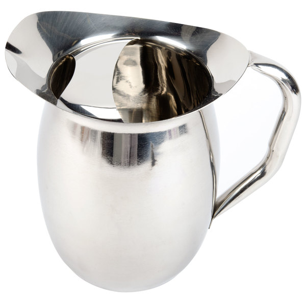 2 Qt. Bell Stainless Steel Pitcher with Ice Guard