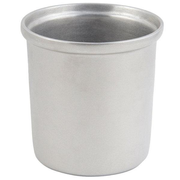 Bon Chef 9203 2.5 Qt. Pewter-Glo Cast Aluminum Salad Dressing Bowl / Condiment Pot