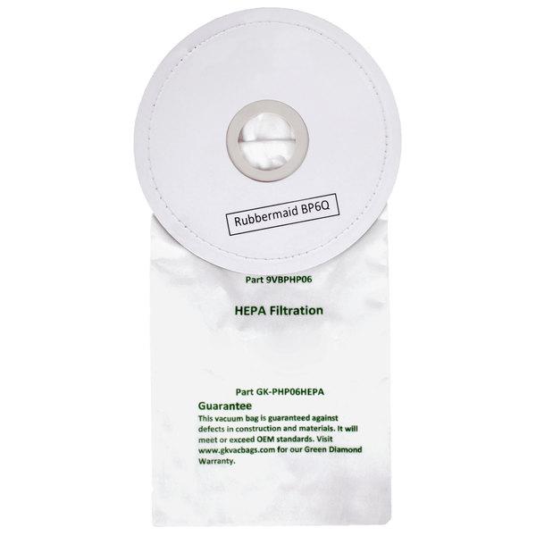 HEPA Vacuum Bag for Rubbermaid 6 Qt. Backpack Vacuums - 10/Pack