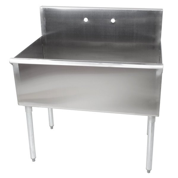 Regency 36 16 Gauge Stainless Steel One Compartment Commercial Utility Sink 36 X 21 X 14 Bowl