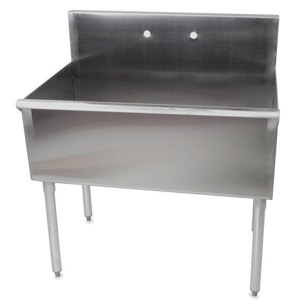 regency 36 16 gauge stainless steel one compartment commercial utility sink 36 x 24 x 14 bowl - Stainless Utility Sink