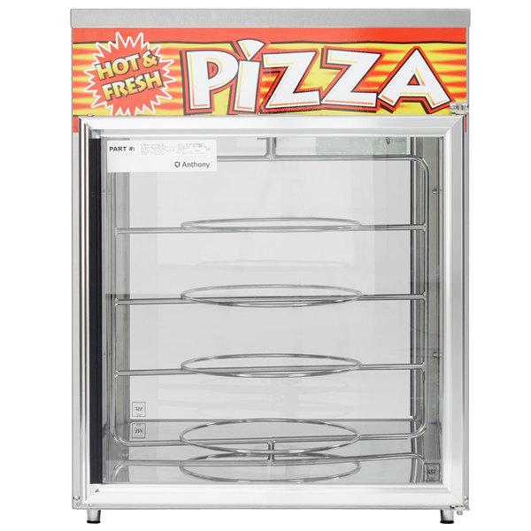 "APW Wyott HDC-4P Pass-Through Heated Display Case with Four 18"" Pizza Racks - 220V"
