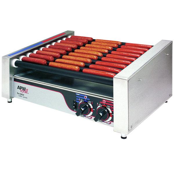"""APW Wyott HR-31 Hot Dog Roller Grill 19 1/2""""W Flat Top - 208/240V"""