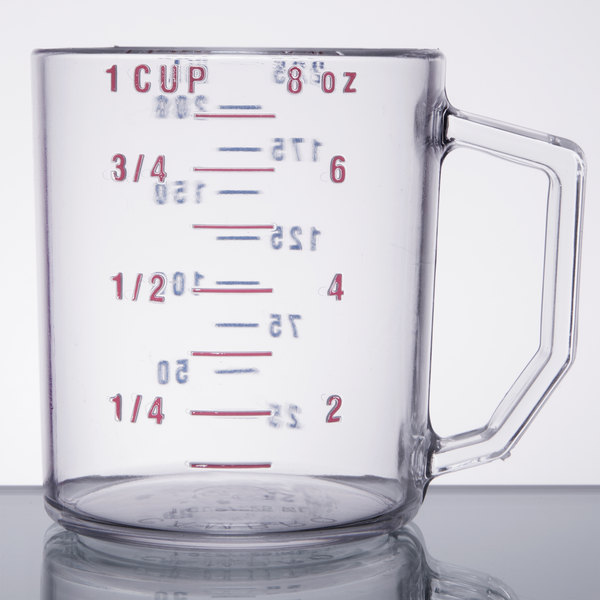cambro 25mccw135 camwear 1 cup clear measuring cup. Black Bedroom Furniture Sets. Home Design Ideas