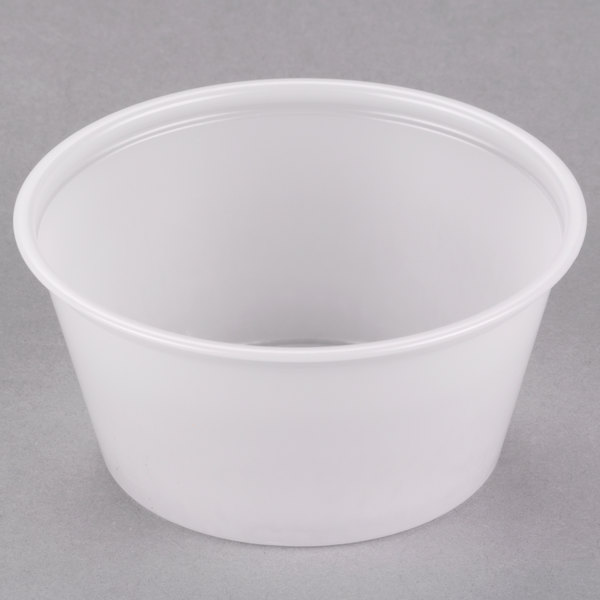 Dart Solo P325N 3.25 oz. Translucent Polystyrene Souffle Cup / Portion Cup  - 2500/Case