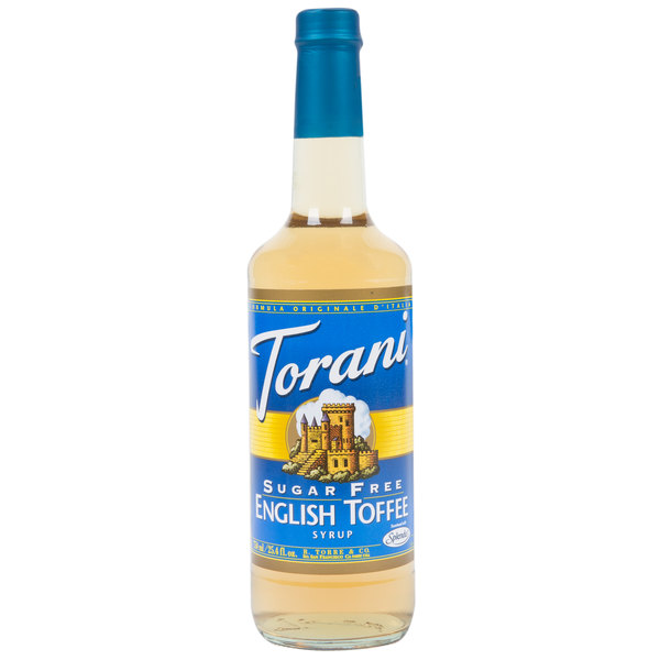 Torani 750 mL Sugar Free English Toffee Flavoring Syrup