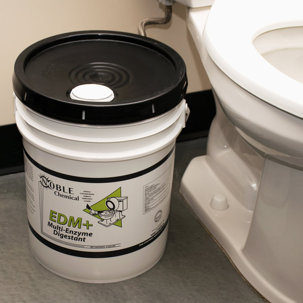 Noble Chemical 5 Gallon / 640 oz. EDM+ Enzymatic Drain Maintainer