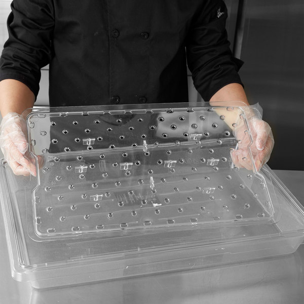 "Rubbermaid FG331800CLR Clear Drain Tray for 26"" x 18"" Storage Boxes"