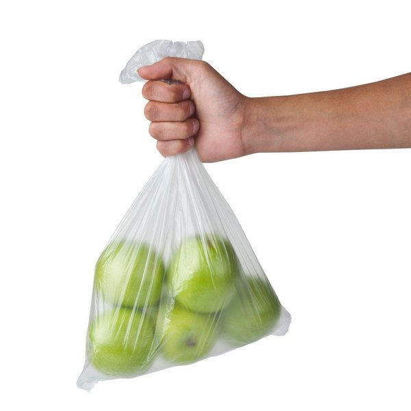 """Inteplast Group PHNONP20NS 12"""" x 20"""" Plastic Side Print Produce Bag on a Roll - 4/Case"""