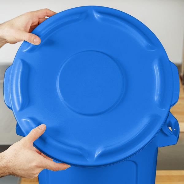 Rubbermaid 1779700 BRUTE Blue 10 Gallon Trash Can Lid
