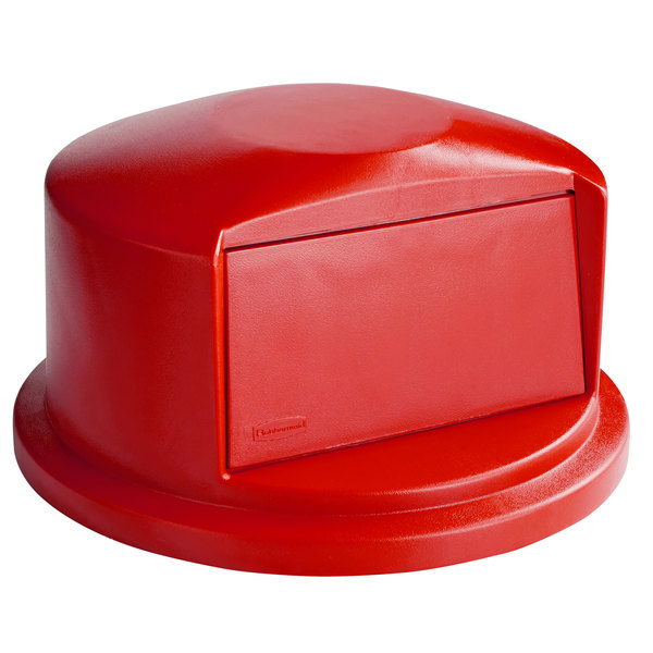 Rubbermaid FG263788RED BRUTE Red Dome Top for FG263200 Containers 32 Gallon Main Image 1