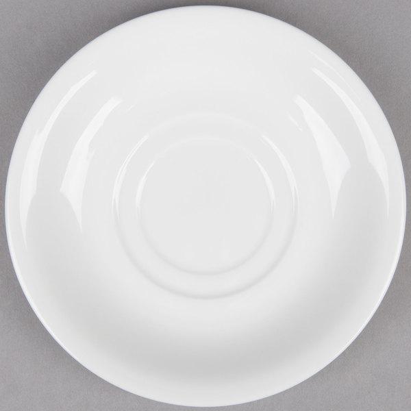 6 inch Bright White Porcelain Saucer  - 36/Case