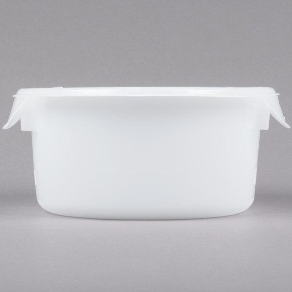 Rubbermaid Fg572000wht 2 Qt White Round Food Storage Container