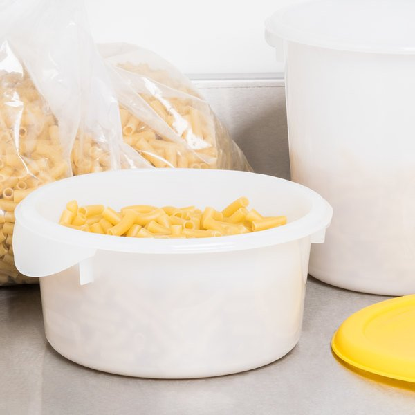 Rubbermaid FG572000WHT 2 Qt. White Round Food Storage Container