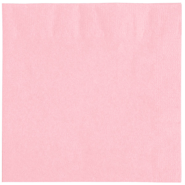 Choice 10 inch x 10 inch Customizable Pink 2-Ply Beverage / Cocktail Napkins - 1000 / Case