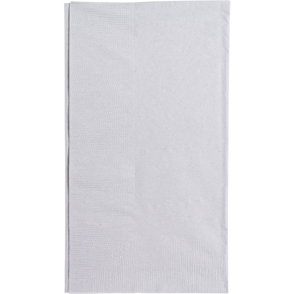 Silver / Gray Paper Dinner Napkin, Choice 2-Ply Customizable, 15 inch 17 inch - 1000/Case