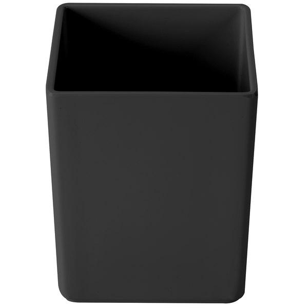"Cal-Mil 1391-13M Cater Choice Black Melamine Box - 5"" x 5"" x 6"""
