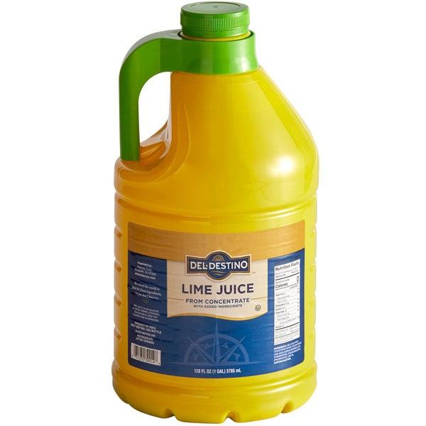 100% Lime Juice 1 Gallon Bottle - 4/Case