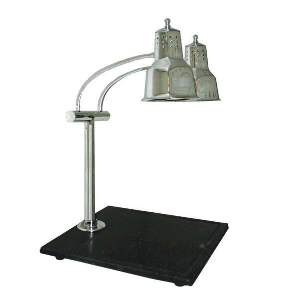 "Hanson Heat Lamps EDL-BB Economy Dual Lamp 11"" x 18"" Carving Station with Black Solid Base"